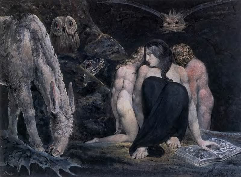 "The Night of Enitharmon's Joy ""Hecate"" by William Blake"