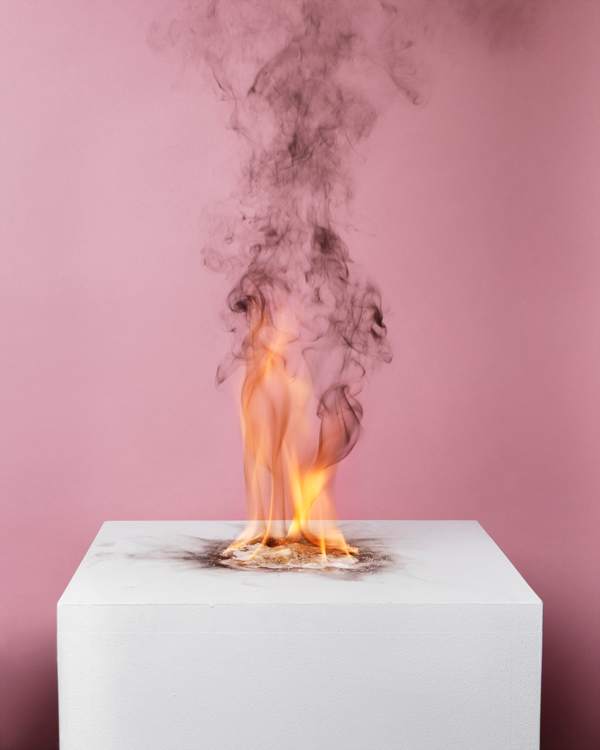 Camphor Flame on Pedestal' Art Work by Michael Bühler-Rose