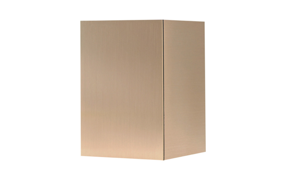 "Bronze Cube Made of Solid Bronze, measures 5 ½"" W X 5 ¾"" D, 8"" H, 208 Cu. inches, up to 198 lbs., $365"