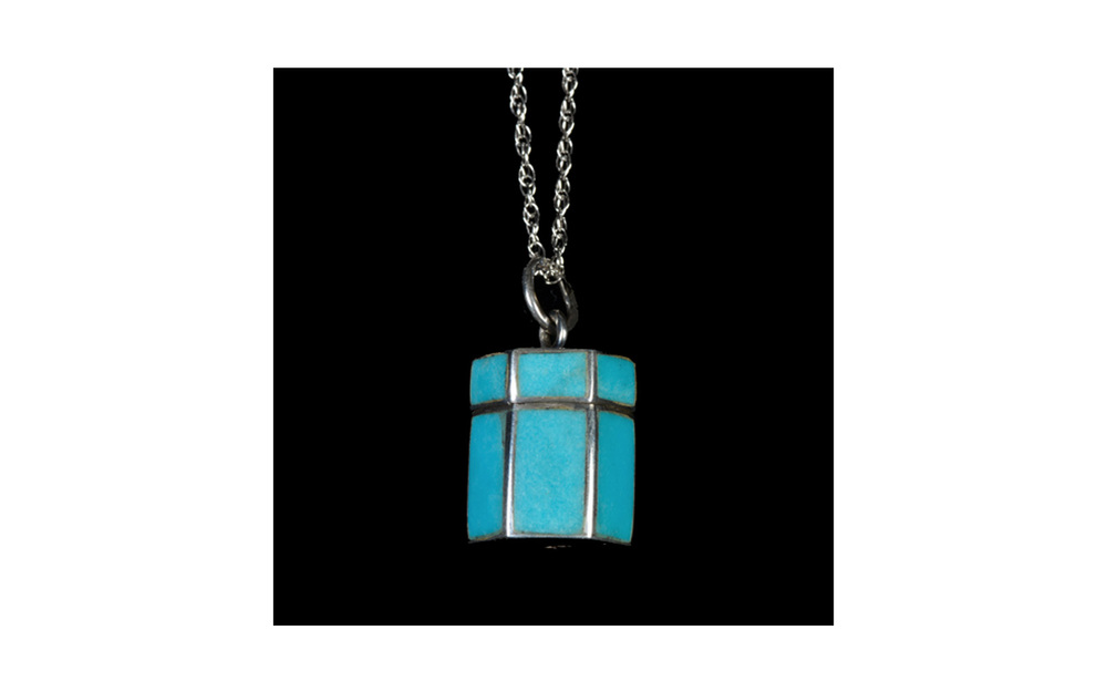 "Blue Stone Chest Sterling Silver pendant, with Removable Top, comes with 18"" Sterling Silver chain, 0.3 Cu. inches, $160"