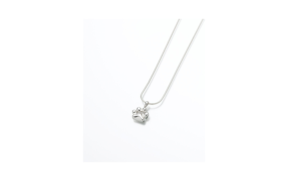 "Sterling Silver Paw Pendant   Measures 5/8""W x 5/8""H, Chain not included,  $140"