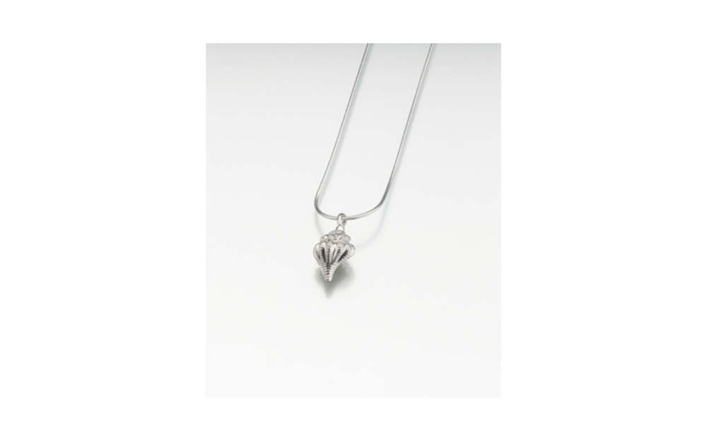 "Sterling Silver Conch Shell Pendant   Measures 5/8""W x 3/4""H , Chain not included,  $150"