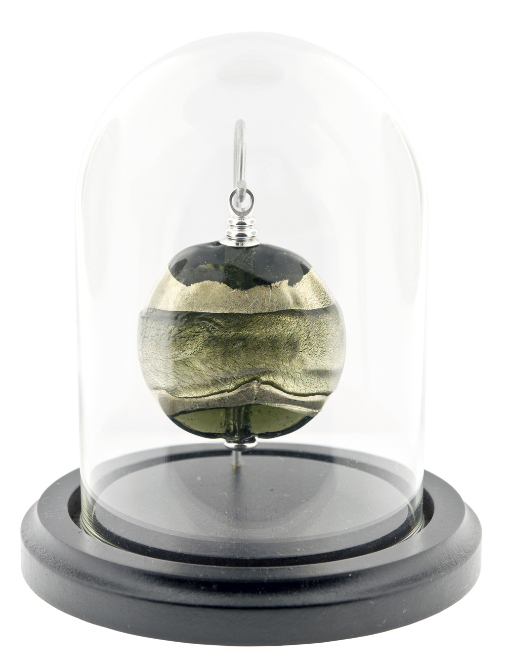 "In the Garden Keepsake Keepsake: 2"" W x 0.75"" D x 2.3"" H / 0.5 CI Base and Glass Dome (included): 4"" Dia x 5"" H $425"