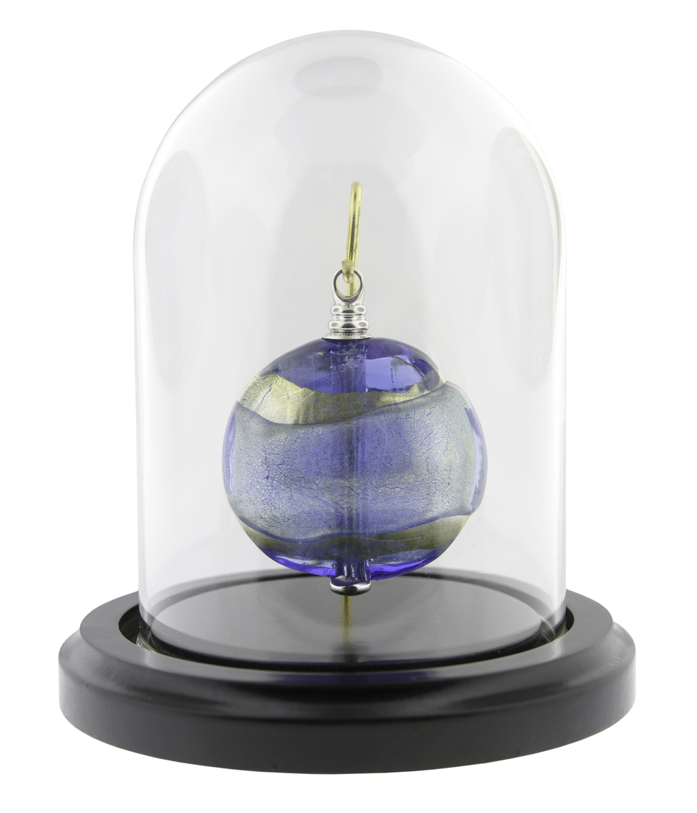 "Serenity Keepsake   Keepsake: 2"" W x 0.75"" D x 2.3"" H / 0.5 CI  Base and Glass Dome (included): 4"" Dia x 5"" H   $425"
