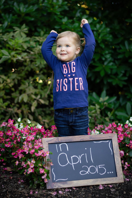 Big sister in april 2015