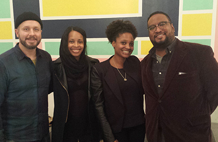 L-R: poets Michael Cirelli, Nicole Sealey, Tracy K. Smith, F. Douglas Brown