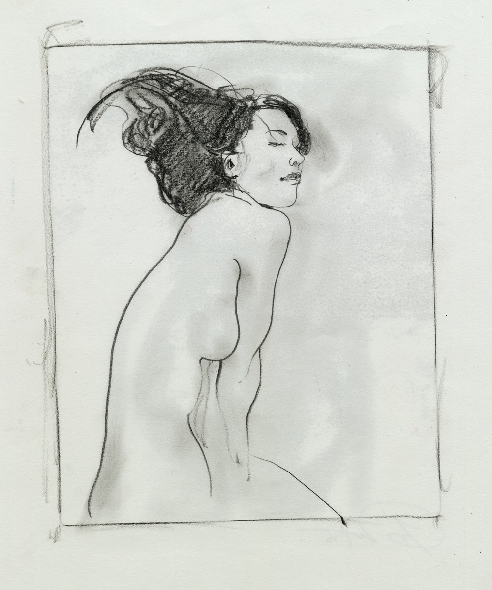 Girl Transfer pencil Monotype.jpg