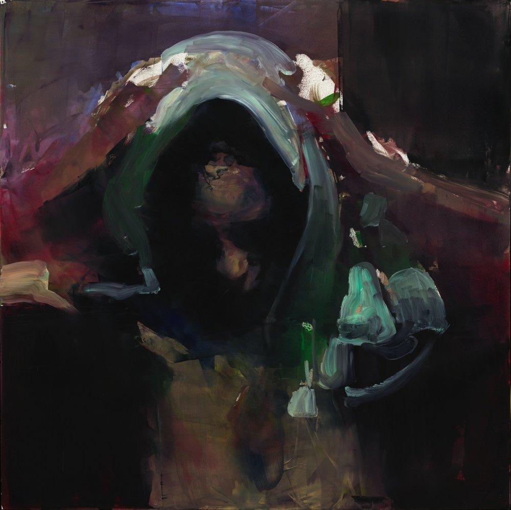 Mary Headress abstract  Oil - 24 x 24.jpg
