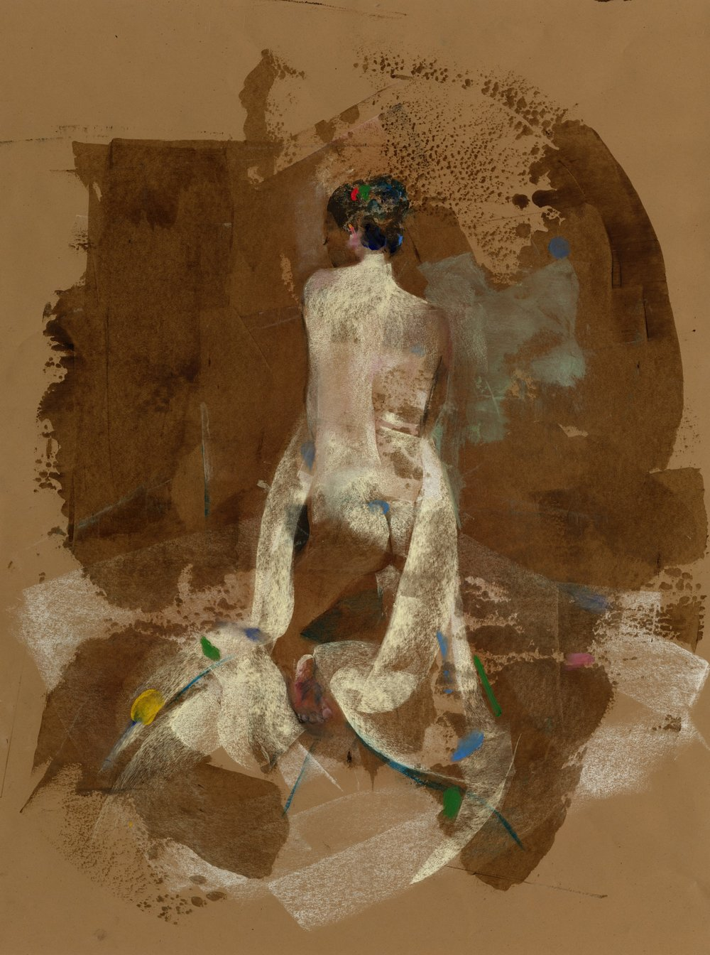 Red and Green Nude - Mixed Media - 18 x 24.jpg