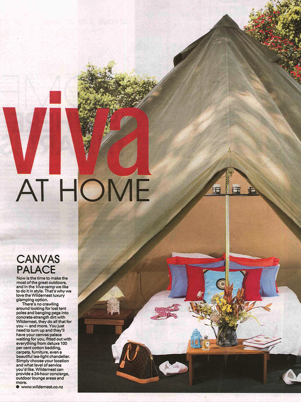 WILDERNEST IN THE VIVA MAGAZINE