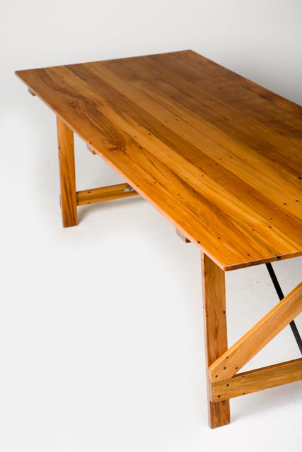 recycled rimu trestle table - 2200mm(L) x 900mm(W) x 700mm(H) -4.jpg