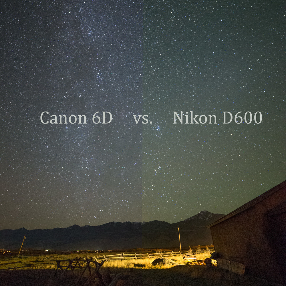 Canon 6d Vs Nikon D600 High Iso Night Photography