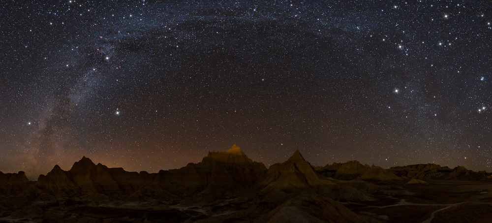 Badlands Milky Way Pano