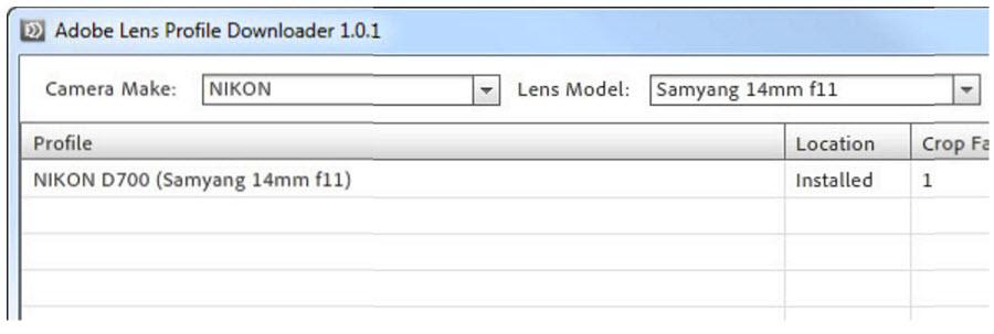 Lens Profile for Rokinon Samyang 14mm 2.8