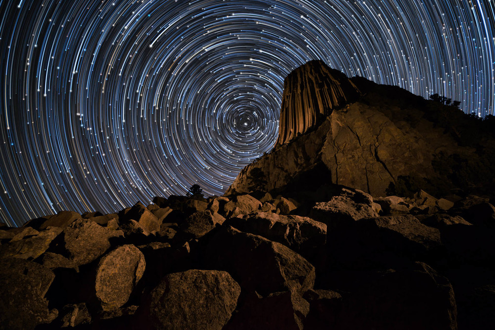 Comet Like Star Trails