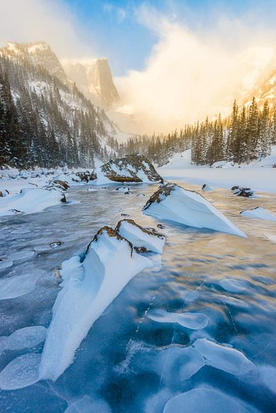 Dream Lake Sunrise Rocks