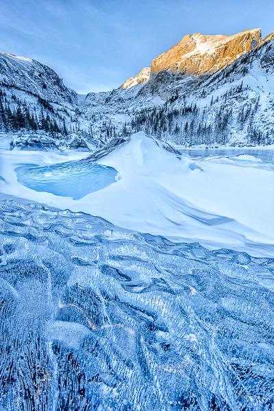 Lake Haiyaha Jagged Ice