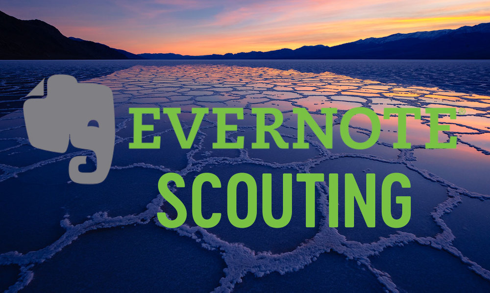 Evernote for landscape photography scouting