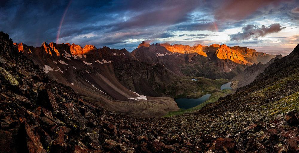 Blue Lakes Pass Sunrise