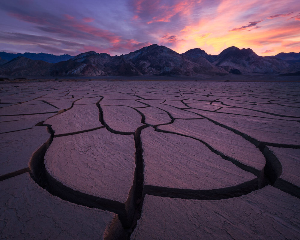 death valley mud cracks post processing video