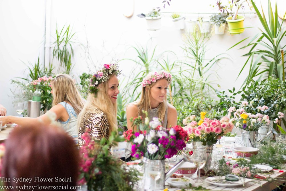 Flower Crown workshop at Barrio Chino, Sydney