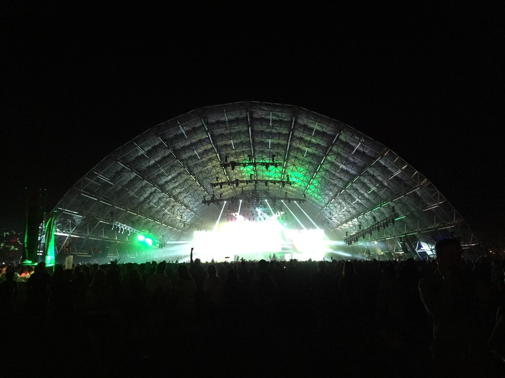 Watching Alesso in the Sahara tent