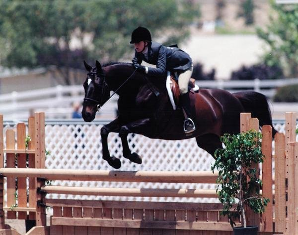 O'Reilly and me at Showpark in the hunters.