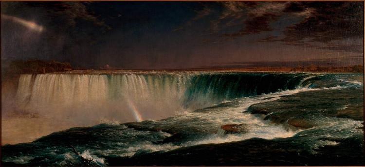 """弗雷德里克·埃德温·丘奇 Frederick Edwin Church(1826-1900)""""尼加拉瓜大瀑布"""""""