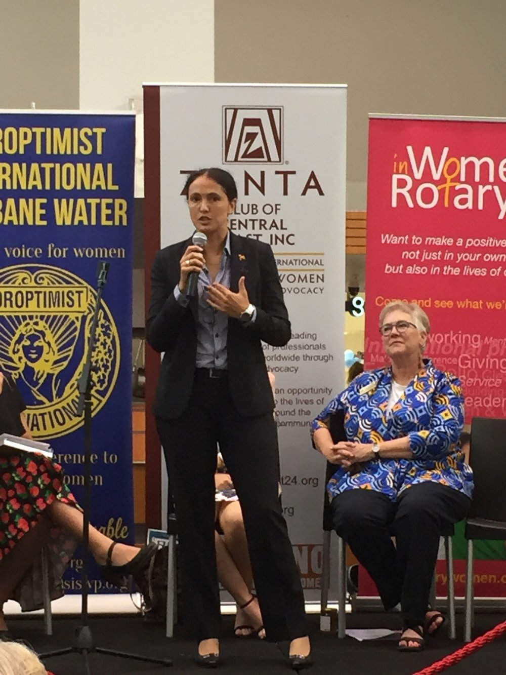 Lindsay Stanford (Blakworks) speaking at The International Women's Day 2017 event at Erina Fair