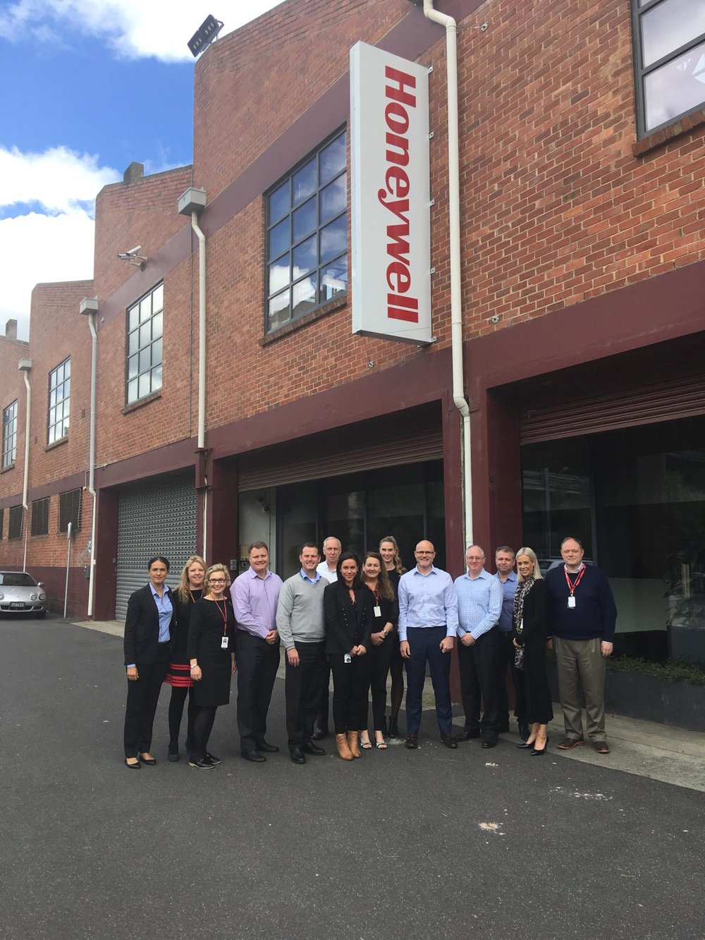 Members of Honeywell's senior leadership team of Honeywell during a break for an Aboriginal Cultural Awareness for Workplaces in Melbourne in 2017