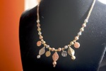 Silver Copper Bronze Beaded Necklace