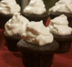 Chocolate Cupcakes with Swiss Meringue
