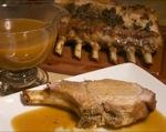 Pork Rib Roast with Apple Cide Gravy