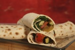 Grilled Vegetable and Goat Cheese Wraps