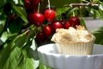 Sweet Cherry Crumb Muffins