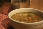 Country Vegetable Soup with Pesto