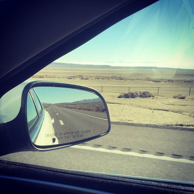 First lesson of the road trip: There is literally nothing in most of Nevada. #nevada #roadtrip #whereiseveryone