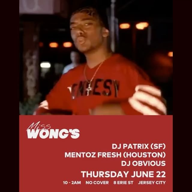 NJ / NYC we in this thang. Pull up tonight ! #djpatrix