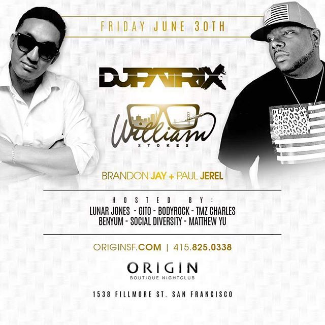 This Friday pull up to @origin_sf