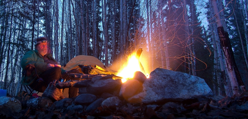 Midnight Around the Camp Fire.