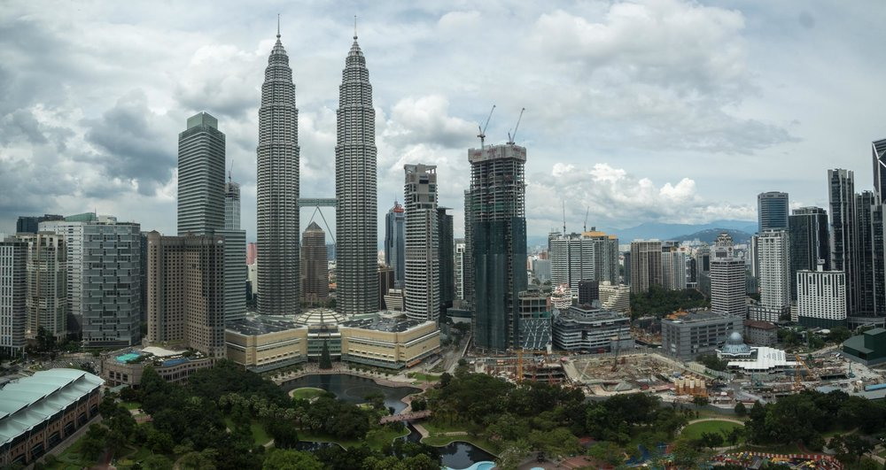 Daytime KL from the windows of the Sky Bar.
