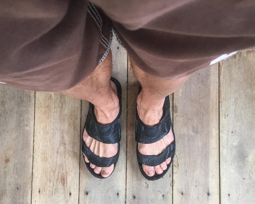 Unique rubber sandals... Designer!