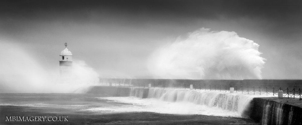 'CRASH!'  Castletown Lighthouse