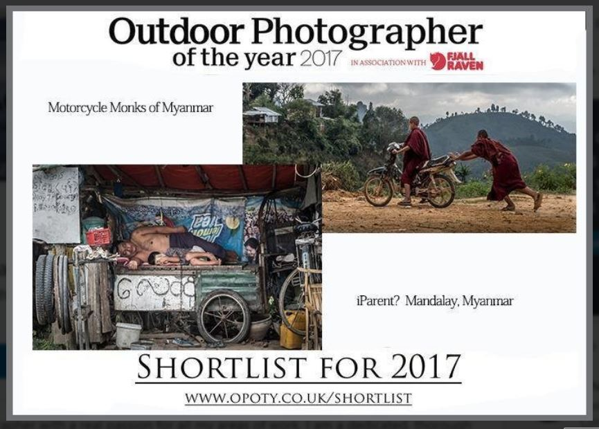 Outdoor Photographer of the Year 2017 - Two Images Shortlisted