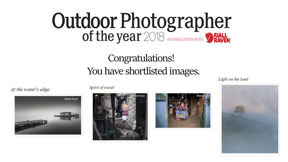 Outdoor Photographer of the Year 2018 - 4 Shortlisted Images!