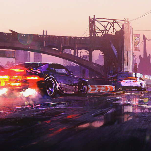 Some old artwork for games ( car racing ) #art #game #car #racing #conceptart #visuale #sketch #bw #color