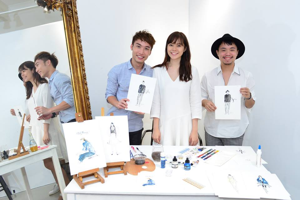 Group shot with Club Monaco's invited guests, who just received the illustration souvenirs.