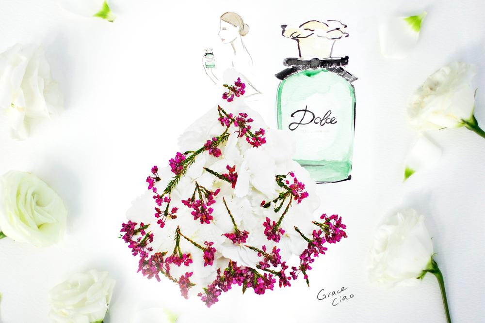 Grace-Ciao-Fashion-Illustrator-Dolce & Gabbana-Dolce-Eau-De-Parfum-Saks-Glam-Gardens-USA-Floral-Dress.jpg