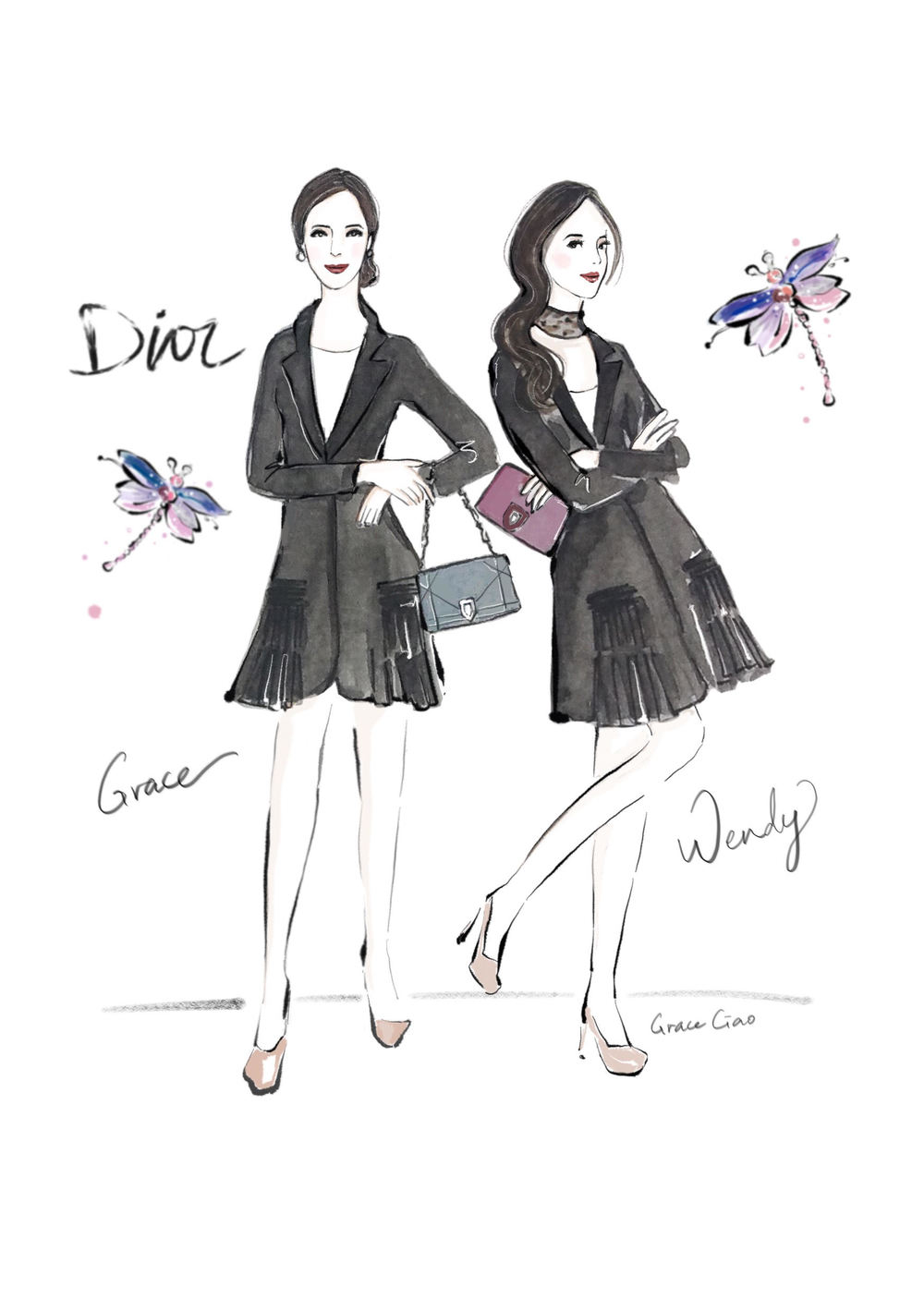 grace-ciao-fashion-illustrator-flower-artist-dior-diorama-club-bag-luxury-event-launch-3