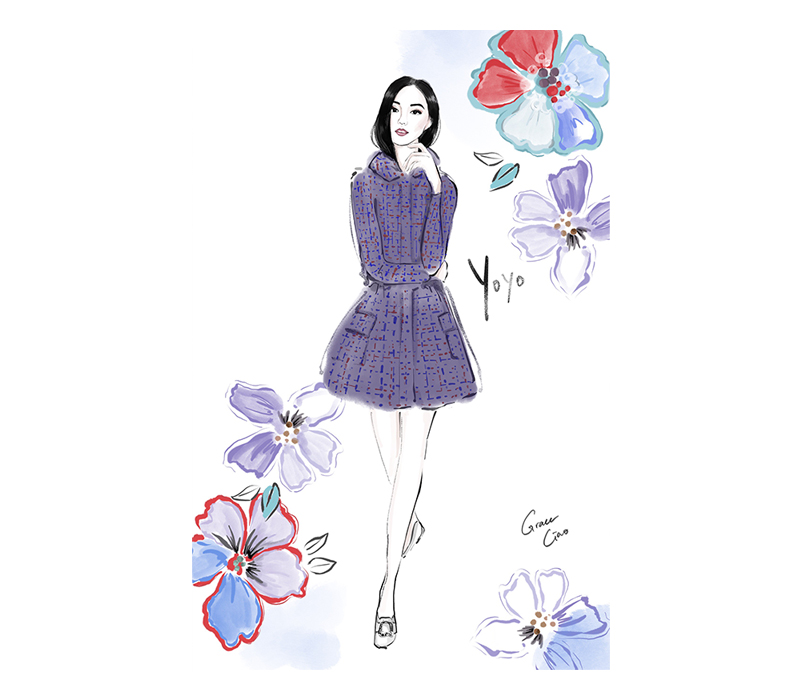 grace ciao fashion illustrator singapore artist live illustration yoyo cao yoyokulala